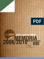 Memoria Arq Obras 2006-2010
