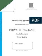 Italiano SNV0910 Classe v Primaria