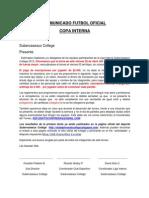 Comunicado Liga Interna 2.0