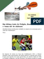 Em último teste de Felipão, Brasil só empata e 'toma olé' de chilenos