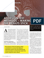 CoatingPro July2012 - Adhesion Test Methods - Making Sure the Result Stick