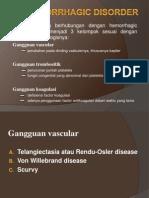 2. Hemorrhagic Disorder
