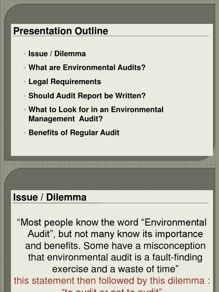 Presentation Envronmental Audit Geng Ajan | Auditor's Report