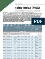 Marine Engine Index (MEX)