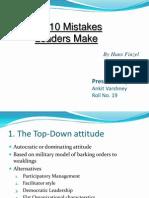 Top 10 Mistakes Leaders Make