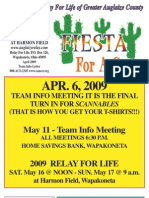 April 2009 Info-Letter Relay For Life of Greater Auglaize County