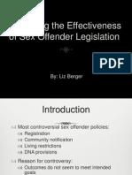 Assessing the Effectiveness of Sex Offender Legislation