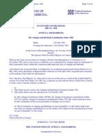 The Constitution of Antigua and Barbuda