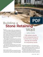 Masonry - Building a Stone Retaining Wall - Bruce Zaretsky