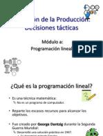 Dirección de la Producción 1