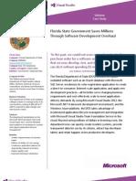 Microsoft Visual Studio 2012 Florida Department of State Case Study