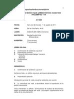 Acta de Reunion Sena