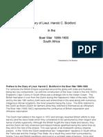 BOER WAR DIARY of Lieut. Harold C. Bickford