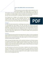 The DEFRA GHG Conversion Factors Update 2013