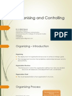 Organising and Controlling