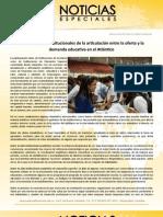 Sobre los retos institucionales de la articulación entre la oferta y la demanda educativa en el Atlántico