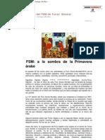 Crónica del FSM de Túnez. Dossier. Àngels Tomás · Santiago Alba Rico · · · ·