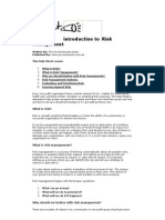 An Introduction to Risk Management New