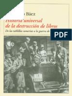 Historia Universal de La Destruccion de - Fernando Baez