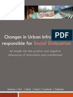 Changes in Urban Infrastructure Responsible for Social Dislocation