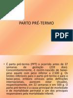 PARTO PRÉ-TERMO