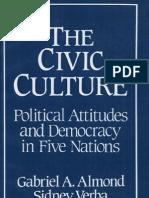 ALMOND; VERBA. the Civic Culture - Political Attitudes and Democracy in Five Nations