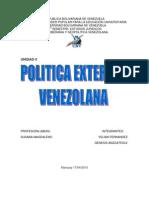 ANÁLISIS DE LA POLÍTICA EXTERIOR VENEZOLANA ANTES DEL PROCESO BOLIVARIANO