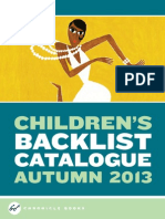 Chronicle Books UK Kids Backlist Fall 2013 Catalog