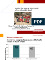 Roche_From Policy to Practice the Scale Up of Community Based Delivery of Iron Folic Acid in Nepal