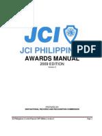 Jci Philippines Awards Manual - 2009 Edition v3