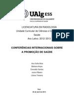 Conferencias Internacionais de Promoção de Saude