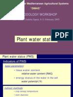 Plant Water Status