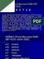 NORMA Oficial Mexicana NOM-087-ECOL-SSA1-2002,.ppt