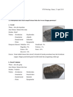 Deskripsi 5 Batuan dan 10 Mineral Umum Pembentuk Batuan