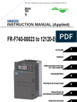 Mitsubishi A700 Series VFD Manual