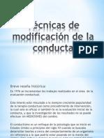 Técnicas de modificación de la conducta