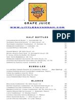 Little Savannah Wine List