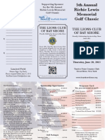 Bay Shore Lions 2013 Golf Outing Application
