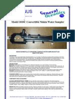Model 1010C Convertible Niskin Water Sampler
