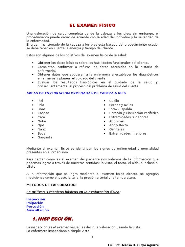 Asombroso Plantilla De Examen Físico Normal Foto - Ejemplo De ...