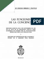 Funciones de La Conciencia Jose Luis Pinillos