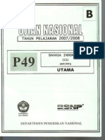 Unas 0708 Bahasa Indonesia B