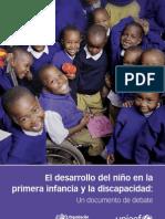 El desarrollo del niño en la primera infacia, discapacidad OMS