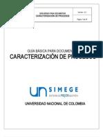 Guia Basica Para Documentar Caracterizacion de Procesos