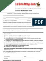 Volunteer Application Pack