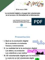 La exclusión digital y el papel del voluntariado en el acceso a la sociedad de la información