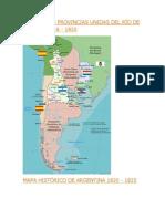 MAPA DE LAS PROVINCIAS UNIDAS DEL RÍO DE LA PLATA 1816