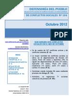 65reporte Mensual de Conflictos Sociales N- 104 - o