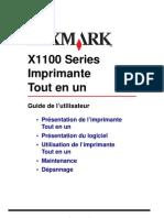 Guide de l'Utilisateur Lexmark X1100 Series