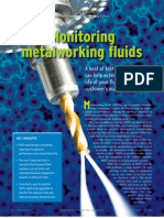 Monitoring Metal Working Fluids